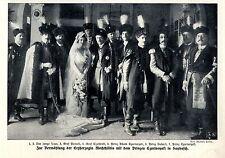 Vermählung der Erzherzogin Mechthildis mit Prinz Czartoryski  in Saybusch v.1913