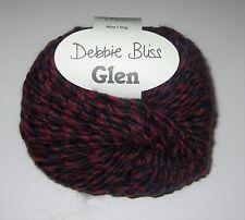 New listing Lot of 10 balls Debbie Bliss Glen Chunky wool knitting yarn #380010 Blueberry