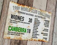 More details for 1989 world club widnes v canberra sublimated wall man cave plaque