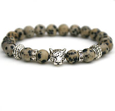 Dalmation Jasper Bracelet Christmas Gift for Men Unisex Leopard Bracelet