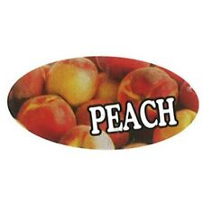 Specialty Printing Oval Peach Flavor Label 196 X 3132 1000roll