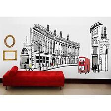 Vintage Decor Home Party Romantic Roman Street Type Mural Art Decal Wall Sticker