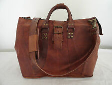 Vintage Leather Tote Duffle Bag Medical Doctor's Bag Laptop Satchel Briefcase