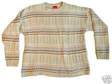Liz & Co. Med Tan/Blue/Pink Striped Sweater