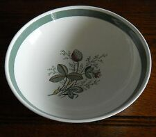 GRANDE Vintage CROWN DUCAL Dish Ciotola, a mano colorato in Gay Meadow Pattern