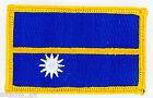 PATCH ECUSSON BRODE DRAPEAU NAURU INSIGNE THERMOCOLLANT NEUF FLAG PATCHE