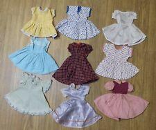 VINTAGE! LOT of 9  1950 STYLE DRESSES for YOUR HARD PLASTIC ERA & VINTAGE DOLLS