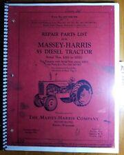 Massey Harris 55 Diesel Tractor Sn 1000 10001 Repair Parts List Manual 690086m4