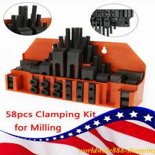 Clamping Bolt M12 Slot T Nut Hold Down Tool Set For Metal Milling Machine 58pcs