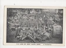 The Lads Of The Kent Brass Band C Company Vintage Military Postcard 172b