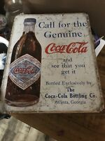 "Metal Coca Cola Sign Reproduction Made In USA 12""x16"" New Made to Look Vintage"