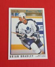 1991/92 O-Pee-Chee Premier Hockey Brian Bradley Card #190**Toronto Maple Leafs**