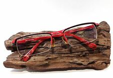 Alain Milki Red Wire Semi-Rimless Men Women Eyeglasses Frame A0561-18