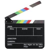 Dry Erase Regisseur des Films Film Klappe Cut Action Szene Klappe Schiefer Z1R3