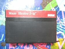 Maze Hunter 3-D (Sega Master, 1988) cart only