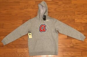 $75 RARE NEW Nike Mens ATLANTA BRAVES Cooperstown Collection Hoodie NKNF-06G M