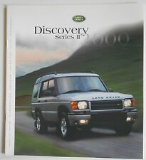 2000 Land Rover Discovery Series II Sales Brochure