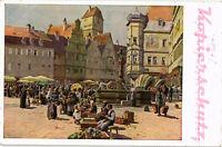 AK Künstlerkarte, Künstler Paul Hey, Aus einer alten deutschen Stadt, 24/02