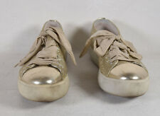 Prada Womens Glitter Gold Trainer Sneakers Shoes 36 Italy