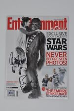 Carrie Fisher Peter Mayhew Autographed Signed Entertainment Weekly - Beckett BAS