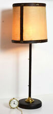Vintage Retro Dark Burl Base Lamp with Shade [PL3213]