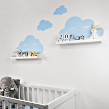 Wandtattoo Wolken für IKEA Mosslanda Regalbrett 55 cm Bilderleiste blau Augen