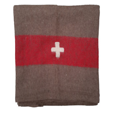 Blanket Army Swiss 200cm x 140cm New 100% Wool