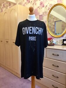 Givenchy Paris Distressed T Shirt 100% Authentic Or Your Money Back (Pristine)