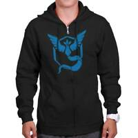 Pok�mon Go Cool Video Game Hooded Fleece | Team Mystic Nerd Gamer Zipper Hoodie