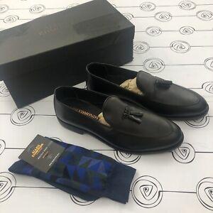 "Allen Edmonds ""SPRING STREET"" 2784 Dress Tassel Loafers Black 10.5 D +Socks"