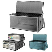 Home Foldable Portable Storage Organizer Box Closet Stackable Bins Container