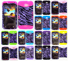 KoolKase Hybrid Silicone Cover Case for HTC One X S720e - Zebra Purple