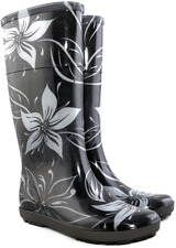 Women Wellington Boots Ladies Wellies Rain Boots Urban Style FLOWERS