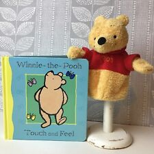 Winnie The Pooh Hand Puppet & Touch and Feel book, baby toddler sensory play