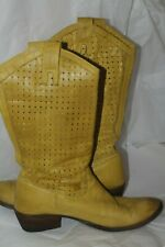 Frye RARE Perforated Carson Pull On Leather Western Women's Cowgirl 9 1/2B