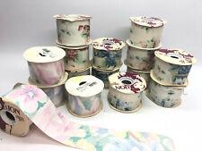 15x Restposten Geschenkband Dekoband 100% Cotton 67mmx22,9m versch. Farben