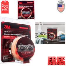 Headlight Restoration Repair Kit Car Lens Cleaner System Polishing Plastic Light