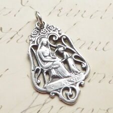 Sterling Silver St Anne Medal - Patron of mothers - Antique Replica