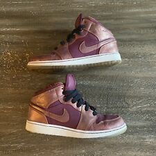 Rare Nike Air Jordan 1 Mid BHM Youth Size 6 Women's Size 7.5 (647562-605)