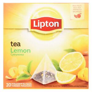 Lipton Lemon Tea Bags 4 Boxes 0f 20 Supplied (80 ) Free UK Delivery