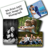 PERSONALISED Aluminium Wallet Card Insert Keepsake IMAGE NAME PHOTO Double Side