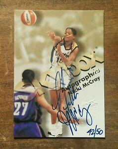 Nikki McCray RC Auto 1999 Skybox  Autographics On Card Sign #42/ 50