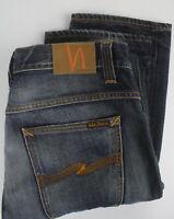 NUDIE Jeans CO. STRAIGHT ALF ORG. INDIGO DEPTH Men W34/L34 Organic Jeans 27046-S