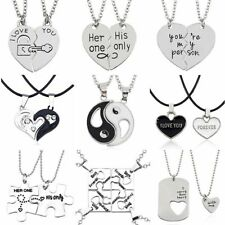 Relationship Necklaces Couple Necklace Set Pendant Matching Cute Heart Bf Gf