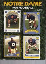 1990 Notre Dame Football Media Guide/Yearbook - EX Mint