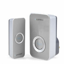 32 Chime Wireless Door Bell Cordless 100M Range LLOYTRON Melody Grey / Silver