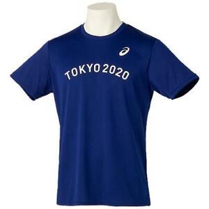 Tokyo 2020 Olympics ASICS Unisex Polyester T-shirt EM Navy 3XL size
