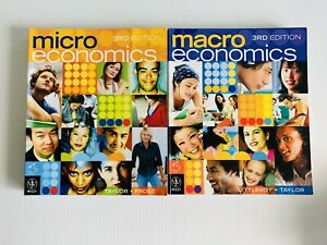 Microeconomics + Macroeconomics 3RD EDITIONS Textbooks (Littleboy Taylor Frost)