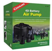 Coghlans Electric Air Pump Inflatable Mattress Ultra Raised Bed Pumps 4D Battery