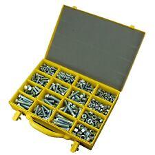 M6 M8 M10 M12 Metric Bolt & Nut CL8.8 Fastener Assortment Kit Zinc 513 Pce